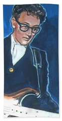 Buddy Holly Bath Towel by Bryan Bustard