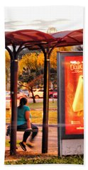 Bus Stop Bath Towel by Beto Machado