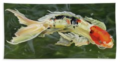 Butterfly Koi Bath Towel by Phyllis Beiser