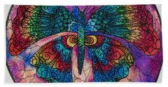 Butterfly Mandala Hand Towel by Megan Walsh