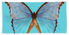 Butterfly Species Morpho Godarti Assarpai Hand Towel
