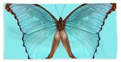 Butterfly Species Morpho Menelaus Alexandrovna Hand Towel
