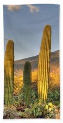 Cactus Desert Landscape Bath Towel