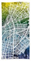 Cali Colombia City Map Bath Towel