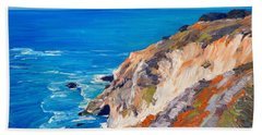 California Coastline Ridges Bath Towel
