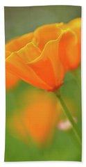 California Spring Poppy Macro Close Up Hand Towel