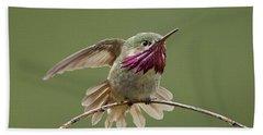 Calliope Hummingbird Bath Towel