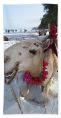 Camel On Beach Kenya Wedding3 Bath Towel