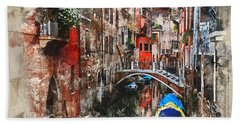 Canal In Venice Hand Towel