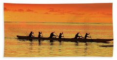 Canoe Practice Bath Towel by Scott Cameron