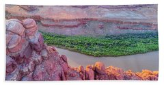 Canyon Of Colorado River - Sunrise Aerial View Hand Towel