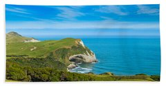 Cape Farewell Able Tasman National Park Hand Towel by Ulrich Schade