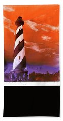 Bath Towel featuring the painting Cape Hatteras Lighthouse by Ryan Fox