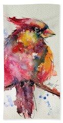 Cardinal Bird Hand Towel