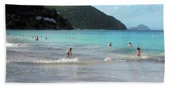 Bath Towel featuring the photograph Caribbean Beach Scenic by Rosalie Scanlon