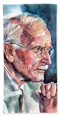 Carl Gustav Jung Portrait Bath Towel