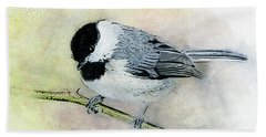 Carolina Chickadee Hand Towel
