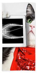 Cat With X Ray Plate Hand Towel