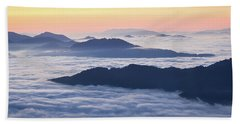 Cataloochee Valley Sunrise Hand Towel by Serge Skiba