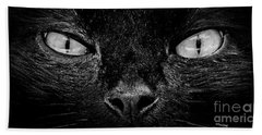 Cat's Eyes Bath Towel by Terri Mills