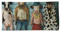 Cattle Line Up Bath Towel