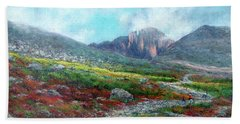 Chasm Lake Trail Bath Towel