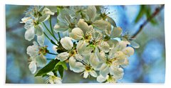 Cherry Tree Flowers Hand Towel