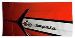 Chevy Impala Hand Towel by Pamela Walrath