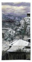 Chiesa San Vito In The Snow Hand Towel