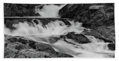 Hand Towel featuring the photograph Chippewa Falls  by Rachel Cohen