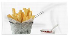 Chips With Tomato Sauce Hand Towel
