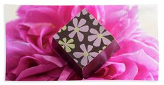 Chocolate Flower Hand Towel by Sabine Edrissi