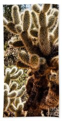Hand Towel featuring the photograph Cholla Cacti by Lawrence Burry