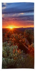 Cholla Sunset  Bath Towel