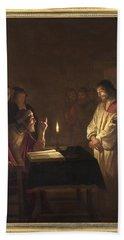 Christ Before The High Priest Bath Towel