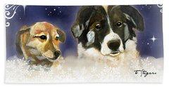 Christmas Doggies Hand Towel