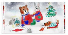Christmas Friends Bath Towel