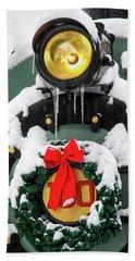 Christmas Train At Pacific Junction Bath Towel