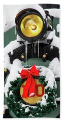 Christmas Train At Pacific Junction Bath Towel