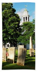 Church On The Hill Hand Towel by James Kirkikis