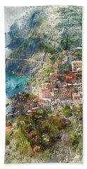 Cinque Terre In Italy Hand Towel