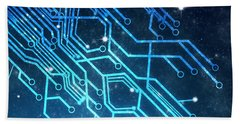 Circuit Board Technology Bath Towel