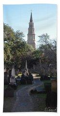 Circular Congregational Graveyard 3 Bath Towel by Gordon Mooneyhan