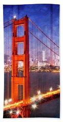 City Art Golden Gate Bridge Composing Bath Towel