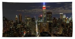 City Lights  Bath Towel by Anthony Fields