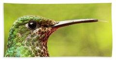 Close-up Of A Rufous-tailed Hummingbird Bath Towel
