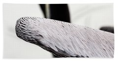 Close-up Of Brown Pelican Hand Towel