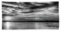 Clouds And Sunset Hand Towel by Doug Long