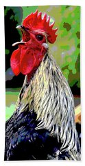 Cock A Doodle Doo Hand Towel by Charles Shoup