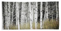 Bath Towel featuring the photograph Colorado Aspen Trees Forest Landscape by Andrea Hazel Ihlefeld